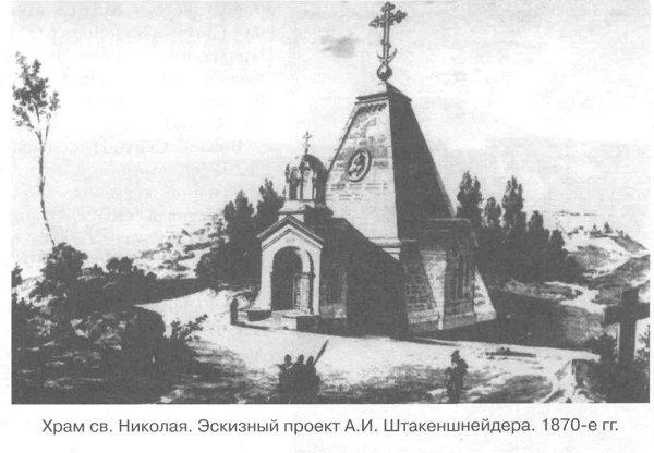 Храм св. Николая. Эскизный проект А.И. Штакеншнейдера. 1870-е гг.